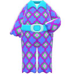 サイケなつなぎ青紫