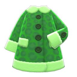 フェイクアニマルコート緑緑