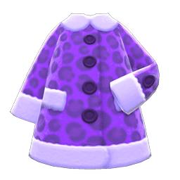 フェイクアニマルコート紫紫