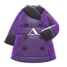 ケイトのコート紫黒