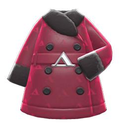 ケイトのコート赤黒