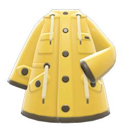 オイルスキンのジャケット黄黄