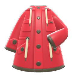 オイルスキンのジャケット赤黄