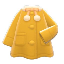 ポンチョコート黄白