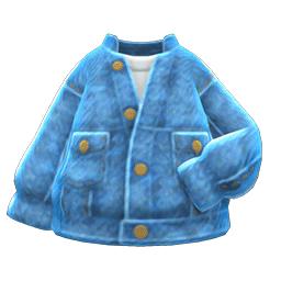 ケミカルデニムジャケット青青