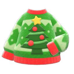 クリスマスセーター緑赤