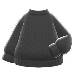 シンプルなニット黒黒