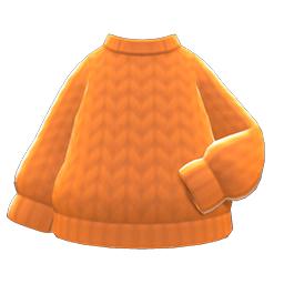 シンプルなニットオレンジオレンジ