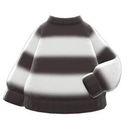 モヘアふうニット白黒