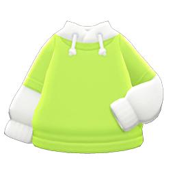 パーカーオンTシャツ黄白