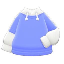 パーカーオンTシャツ青白