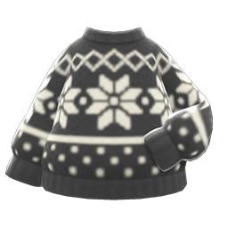 スノーセーター黒白