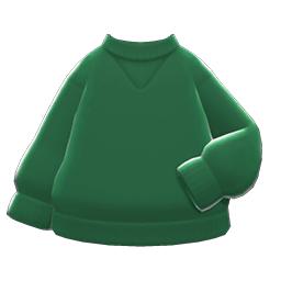 シンプルなトレーナー緑緑