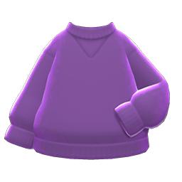 シンプルなトレーナー紫紫