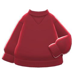 シンプルなトレーナー赤赤