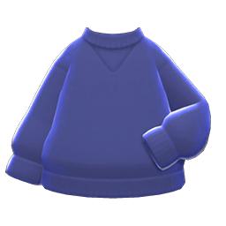 シンプルなトレーナー青青