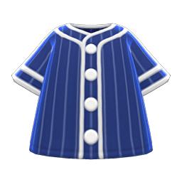 ベースボールシャツ青白