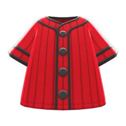 ベースボールシャツ赤黒