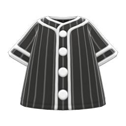 ベースボールシャツ黒白