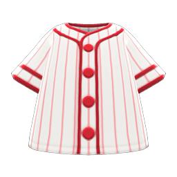 ベースボールシャツ白赤