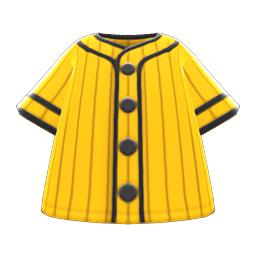 ベースボールシャツ黄黒