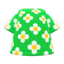 はながらのTシャツ緑白