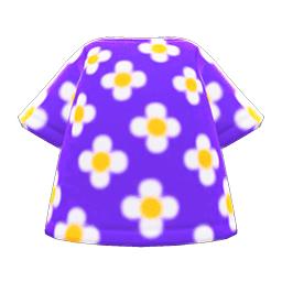 はながらのTシャツ紫白