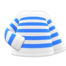 ボーダーTシャツ水白