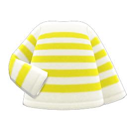 ボーダーTシャツ黄白