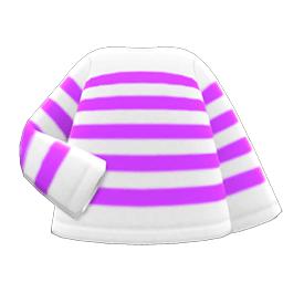 ボーダーTシャツ紫白