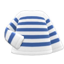 ボーダーTシャツ青白