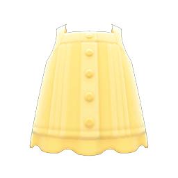 レースのキャミソール黄黄