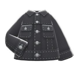 デニムジャケット黒黒
