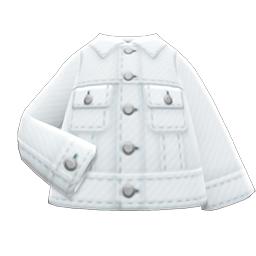 デニムジャケット白白