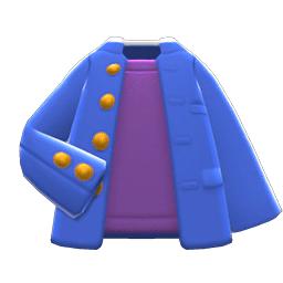 ヤンチャながくせいふく青紫