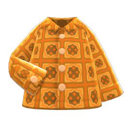 サイケデリックシャツオレンジオレンジ