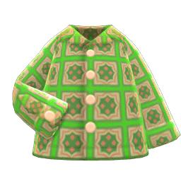 サイケデリックシャツ緑緑