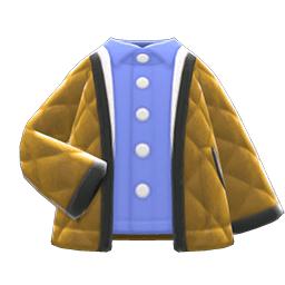 キルティングジャケット茶青