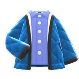 キルティングジャケット青青