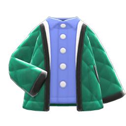 キルティングジャケット緑青