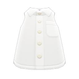 ノースリーブえりつきシャツ白白