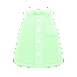 ノースリーブえりつきシャツ緑緑