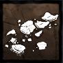 粉々になった卵の殻の画像