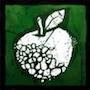 灰色のりんごの画像