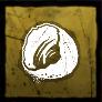 半分の卵の殻の画像