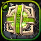 束縛の緑チェーンアイコン