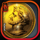 古代の黄金コインアイコン