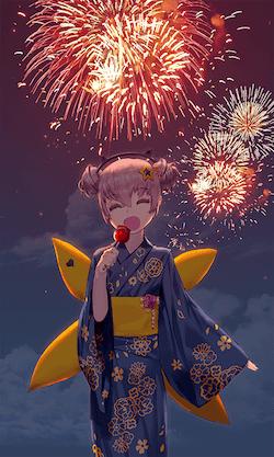 夏祭りの夜の画像