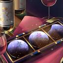 ワインと星のチョコレートのアイコン