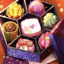 和菓子風チョコ+手紙のアイコン